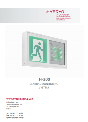 Hybryd brochure H-300 central monitoring system